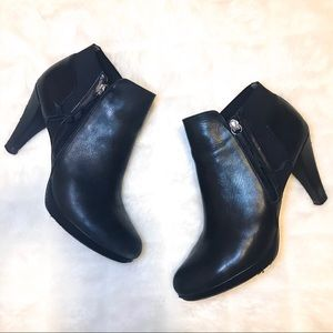 Adrienne Vittadini Heel Bootie Leather Black 10